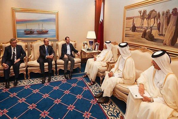 وزیر خارجه ترکیه با نخست وزیر قطر دیدار کرد