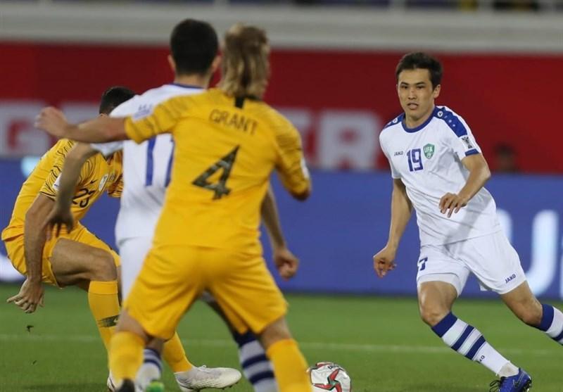 جام ملت های آسیا، تساوی استرالیا و ازبکستان در نیمه اول