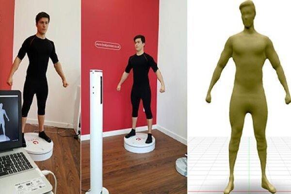 اسکن سه بعدی بدن انسان ها