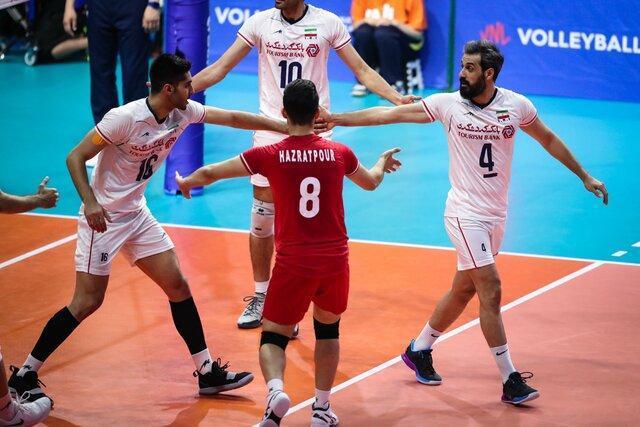 صعود والیبال ایران به دور نهایی لیگ ملت ها با پیروزی بر صربستان