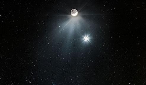 امشب، تماشای هم نشینی ماه با سیاره الهه آب را دست ندهید، پنج شنبه قمر زمین و مشتری به دیدار یکدیگر می روند