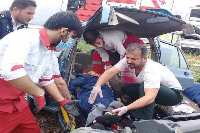 خبرنگاران تصادف پراید در قزوین 2 کشته برجا گذاشت