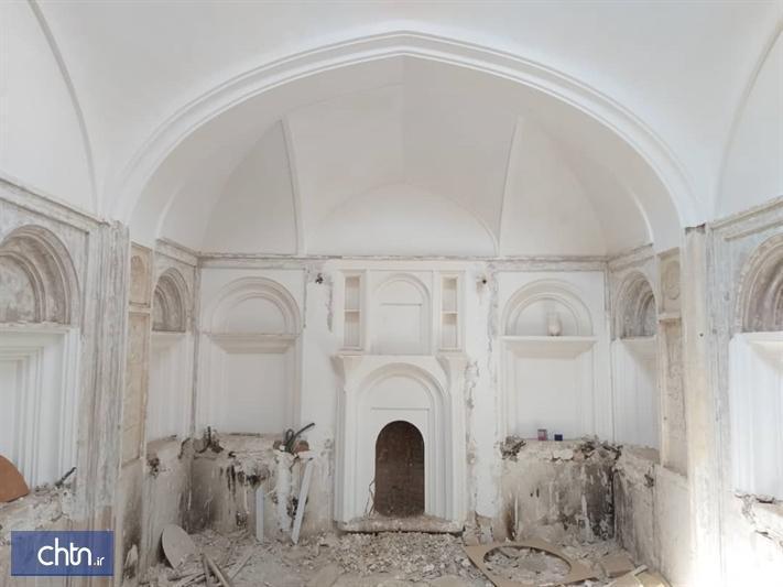 فاز جدیدی از عملیات مرمتی باغ سالار کلانتر کرمان شروع شد