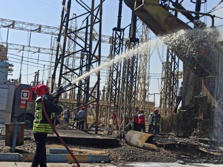 آتش سوزی در نیرورگاه شهید مدحج زرگان
