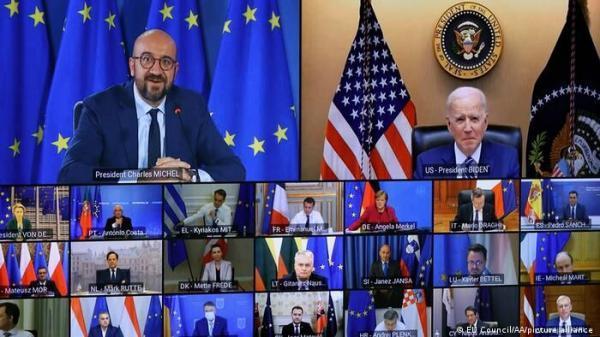 حضور بایدن در نشست مجازی اتحادیه اروپا، تلاشی برای بازسازی روابط
