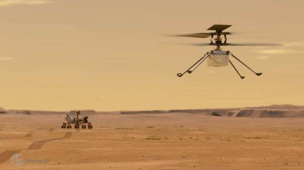 لحظه فرود کاوشگر استقامت روی مریخ