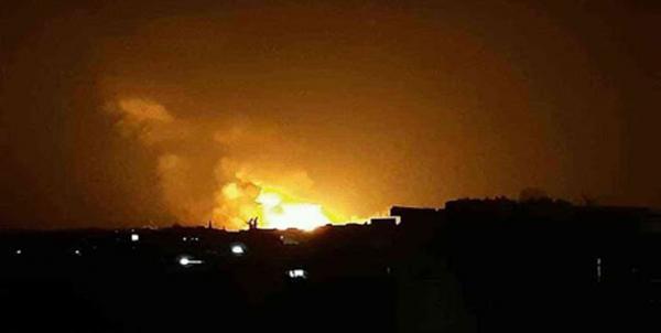 انفجارهای شدید در پایگاه ائتلاف سعودی در مأرب یمن