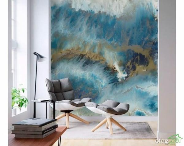 برترین ایده های استفاده از کاغذ دیواری آبرنگی در منزل